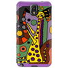Funny Funky Abstract Art Giraffe Playing Saxophone Phone Case
