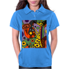 Funny Funky Abstract Art Giraffe Playing Saxophone Womens Polo