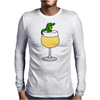 Funny Funky Alligator on Wine Glass Mens Long Sleeve T-Shirt