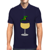 Funny Funky Alligator on Wine Glass Mens Polo