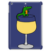 Funny Funky Alligator on Wine Glass Tablet