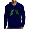 Funny Funky Alligator Talking to Crocodile Original Art Mens Hoodie