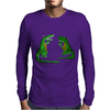 Funny Funky Alligator Talking to Crocodile Original Art Mens Long Sleeve T-Shirt