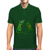 Funny Funky Alligator Talking to Crocodile Original Art Mens Polo