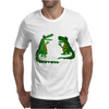 Funny Funky Alligator Talking to Crocodile Original Art Mens T-Shirt