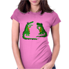 Funny Funky Alligator Talking to Crocodile Original Art Womens Fitted T-Shirt