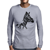 Funny Funky Artsy Zebra Mens Long Sleeve T-Shirt