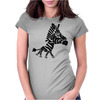 Funny Funky Artsy Zebra Womens Fitted T-Shirt