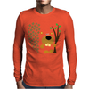 Funny Funky Beaver Abstract Art Mens Long Sleeve T-Shirt