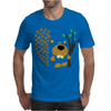 Funny Funky Beaver Abstract Art Mens T-Shirt
