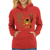 Funny Funky Beaver Abstract Art Womens Hoodie