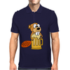 Funny Funky Beaver Drinking Beer Mens Polo
