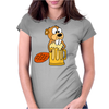 Funny Funky Beaver Drinking Beer Womens Fitted T-Shirt