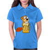 Funny Funky Beaver Drinking Beer Womens Polo