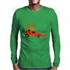 Funny Funky Brown Rabbit Driving Carrot Car Mens Long Sleeve T-Shirt