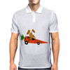 Funny Funky Brown Rabbit Driving Carrot Car Mens Polo