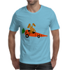 Funny Funky Brown Rabbit Driving Carrot Car Mens T-Shirt