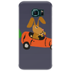 Funny Funky Brown Rabbit Driving Carrot Car Phone Case