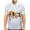 Funny Funky Calico Cat in Tree Art Mens Polo