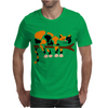 Funny Funky Calico Cat in Tree Art Mens T-Shirt