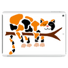 Funny Funky Calico Cat in Tree Art Tablet
