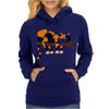 Funny Funky Calico Cat in Tree Art Womens Hoodie