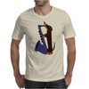 Funny Funky Dachshund dog laying a Blue Saxophone Art Mens T-Shirt