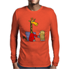 Funny Funky Giraffe Drinking Glass of Beer Mens Long Sleeve T-Shirt