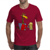 Funny Funky Giraffe Drinking Glass of Beer Mens T-Shirt