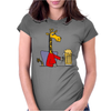 Funny Funky Giraffe Drinking Glass of Beer Womens Fitted T-Shirt