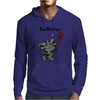 Funny Funky Grey Kitty Cat Playing Badminton Mens Hoodie