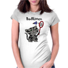 Funny Funky Grey Kitty Cat Playing Badminton Womens Fitted T-Shirt