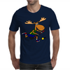 Funny Funky Moose Playing Field Hockey Mens T-Shirt