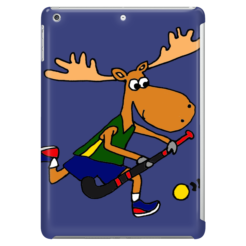 Funny Funky Moose Playing Field Hockey Tablet