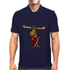 Funny Funky Moose Playing Red Guitar Mens Polo