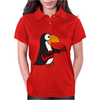 Funny Funky Penguin is Playing a Red Guitar Original Art Womens Polo