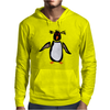 Funny Funky Rockhopper Penguin Original Primitive Art Mens Hoodie