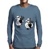 Funny Funky Sheep Playing the Bagpipes Art Mens Long Sleeve T-Shirt