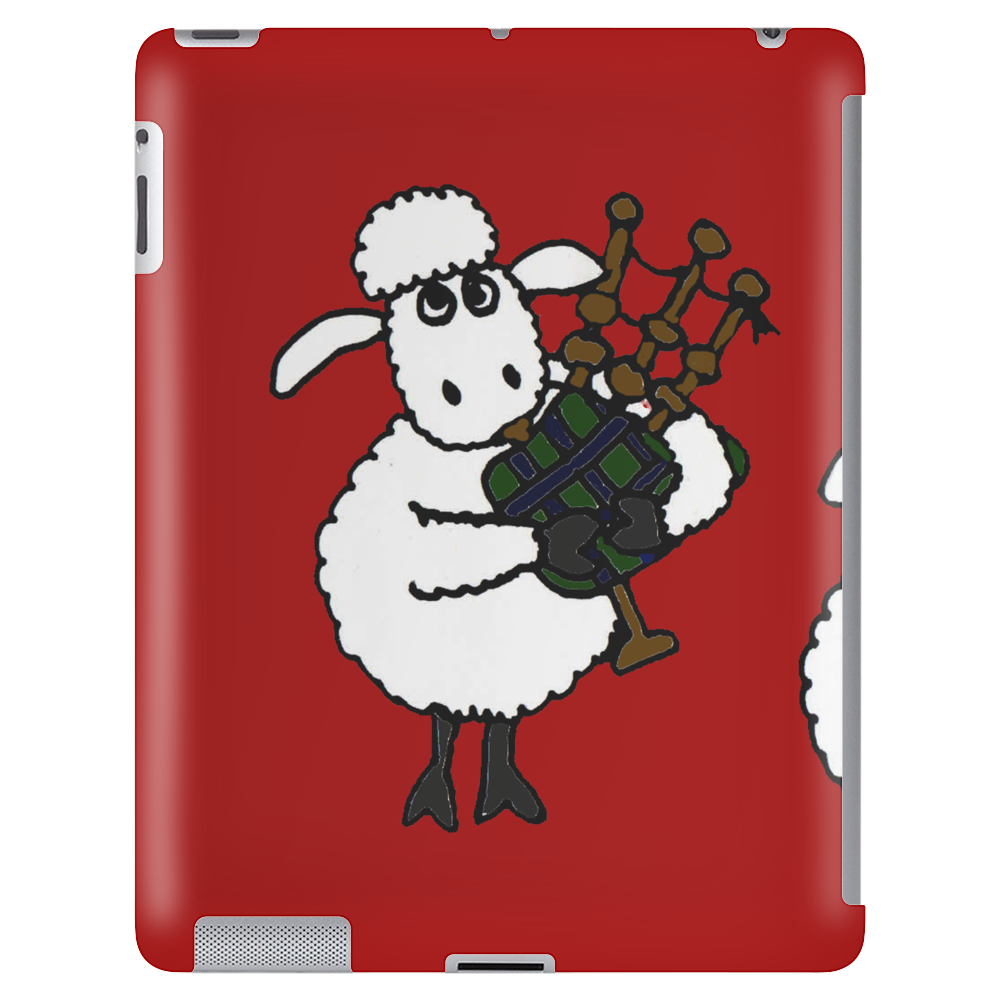 Funny Funky Sheep Playing the Bagpipes Art Tablet