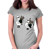Funny Funky Sheep Playing the Bagpipes Art Womens Fitted T-Shirt