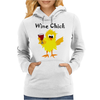 Funny Funky Wine Chick Cartoon Womens Hoodie