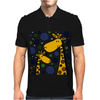 Funny Giraffe Family Abstract Art Original Mens Polo
