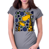 Funny Giraffe Family Abstract Art Original Womens Fitted T-Shirt
