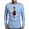 Funny Giraffe with Electric Guitar Body Mens Long Sleeve T-Shirt