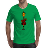Funny Giraffe with Electric Guitar Body Mens T-Shirt