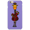 Funny Giraffe with Electric Guitar Body Phone Case