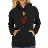 Funny Giraffe with Electric Guitar Body Womens Hoodie