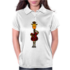 Funny Giraffe with Electric Guitar Body Womens Polo