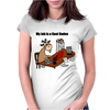 Funny Goat Rodeo Job Cartoon Art Womens Fitted T-Shirt