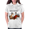 Funny Goat Rodeo Job Cartoon Art Womens Polo